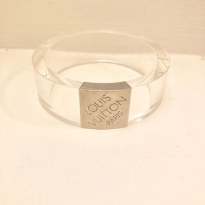 NWOT Louis Vuitton Clear LV Bangle Bracelet